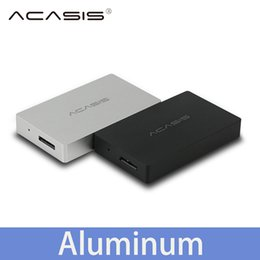 Wholesale Hard Disk Aluminum Case - Wholesale- Acasis USB 3.0 mSATA External Hard Disk Drive HDD Enclosure Case Box SSD Aluminum 1153E Chip 5Gbps 1.8 inch