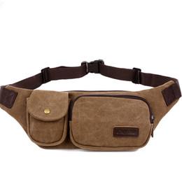 Wholesale Retro Gym Bags - New Retro Men Waist Bag for Men Women Fanny Canvas Chest Pack Quality Money Belt Travelling Phone Sling Bag 22x4x15 Cm