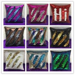 Wholesale Wholesale Decorative Pillowcases - Mermaid Sequin Pillowcases two tone sequin pillowcases continental mermaid decorative pillow case Decorative Pillow Covers 9 Colors