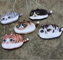 Wholesale Little Girls Mini Purses - New 3D Little Cat Chain Shoulder Bag Oblique 3d Coin Purses Girls Cute Small Bags Women Cosmetic Bag For Gift #B01