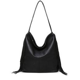 Wholesale Large Vintage Tote Wholesale - Wholesale- INLEELA 2016 Large Winter Bag Vintage Women Shoulder Bag Casual Daily Messenger Bag Fashion Tassel Totes All Match