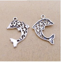 Wholesale Fish Manufacturers - A6158 ancient silver 80  bag alloy hollow fish accessories wholesale DIY jewelry accessories manufacturers direct 1.2 grams