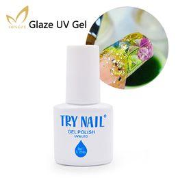 Wholesale Crystal Violet - Wholesale-Pure Color Glaze Nail Polish Gel DIY Nail Art Design Decoration Crystal 3D Long Lasting Glaze UV Gel LED Polish Builder Kit Sets