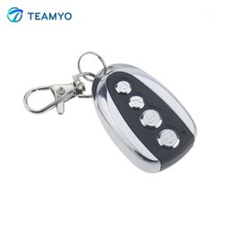Wholesale Rolling Code Garage - Wholesale-Mini Electric Face to Face Garage Remote Control 4 Button 433MHz Duplicator Copy Controller Learning Code Car Gate Rolling Code