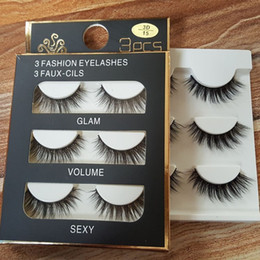 Wholesale 3d Hair - 3D false eyelashes 8 Styles Handmade Beauty Thick Long Soft lashes Fake Eye Lashes Eyelash Sexy High Quality
