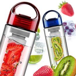 Wholesale Lemon Water - Portable Infuser Bottle Fruit Water Bottles Juice Infusing Water Glassed Health Lemon Juice Bottles With Lids Sport Essential