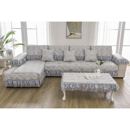 Wholesale Furniture Protectors - Unique Sofa Pillow Couch Cushion Sofa Cover Slipcovers Furniture Protector Cotton Four Seasons Chinese Style free shipping