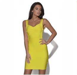Wholesale Tight Fitting Knee Dresses - Fashion sexy bandage evening dresses women bodycon tight fit Stretch party dress beautiful ladies elegant socialite prom dress 2017 new