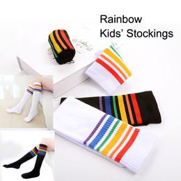Wholesale Dance Knee High Socks - Cotton Stocking For Kids Boys&Girls Long Dance Socks 2-8 Years old Child Students Leg Warmers Socks Rainbow Knee High Socks