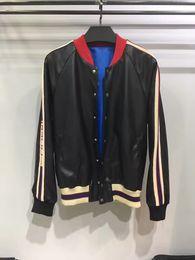Wholesale Men Leather Hooded Jacket Coat - 2017 high quality Jacket Hip Hop Suit Pullover Winter leather jacket Men Coat brand fashion men Casual Baseball uniform Behind letter floc