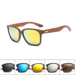 Billige hölzerne sonnenbrille männer online-Günstige Männer Frauen Holz Sonnenbrille Harz Linsen Outdoor-reisen Winddichte Brille Klassische Sonnenbrille 6 Farben Freies Verschiffen