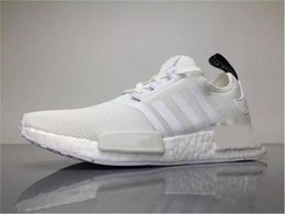 Wholesale Wholesale Camping Fishing - 2017 Originals OFF White X NMD Real Boost BA7546 Running Shoes for Men NMDS Sneakers Women White with Original Box