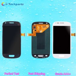 Wholesale Galaxy S Replacement Lcd - New Original OEM For Samsung S3 Mini i8190 LCD Display and Touch Screen Digitizer Assembly Replacement,Blue White