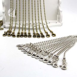 Wholesale Antique Bead Purse - New! antique brass Bronze, silver 120CM Round bead chain bag Accessories Metal Chain handle DIY bag Purse frame 6pcs lot