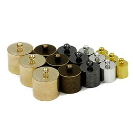 Wholesale Leather Cord End Gold - 7.5 9.5 10 11 13 15mm Copper End Caps For Leather Cord Gold Gunblack Tassel Caps End Clasps Connectors For Jewelry Making F574