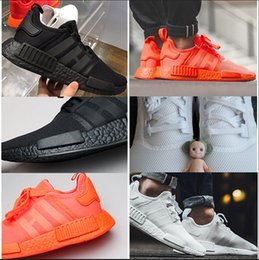 Wholesale Runners Toe - 2017 New NMD Runner R1 Again black White red pk 3M Primeknit Men Women nmds boost Running Shoes sports Shoes Sneakers size 36-45
