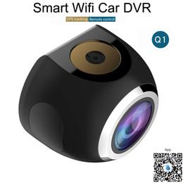 2019 trasmettitore video wifi android nuova mini macchina fotografica astuta della carta di TF dell'inseguitore di GPS dello schermo LCD di 1.54inch DVR dell'automobile Q1 HD 1080P 2MP Wifi astuta DHL libera il trasporto