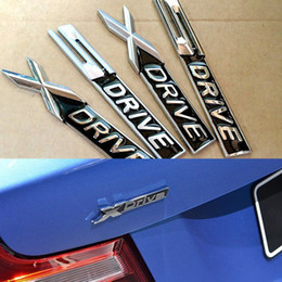 Wholesale Bmw Driving - BLACK Metal chrome matt Xdrive X drive Sdrive S drive emblem badge sticker Decal For bmw 3 4 5 6 7 Series X1 X3 X5 E70 X6 E71