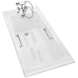 Wholesale Bath Grip Mat - Wholesale-12Pcs Anti Slip Bath Grip Stickers Non Slip Shower Strips Pad Flooring Safety Tape Mat Applique Stickers Bath Tub Shower ZH01103