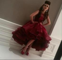 Wholesale Ball Gowns Short Front - Arabic Design Jewel Neck Prom Dresses Lace Bodice Short Front Long Back Party Dresses Prom Gowns robe de bal