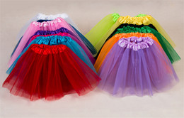 Wholesale Child S Tutu Skirt - Girls Ruffled Tutu Skirt children 's tutu skirt children' s skirt wholesale European and American children ballet dance dresses