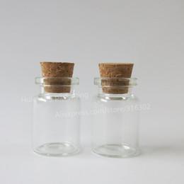 Wholesale Glass Jars Storage Cork - 50pcs lot 5ml Glass Bottle with Cork,sample vials, mini cork bottle,Vial Wishing,storage bottles ,glass jars