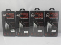 Wholesale empty retail packaging - Empty Tempered Glass Retail Packaging Crystal Box For 9H 2.5D Tempered Glass iPhone Samsung htc LG Huawei Nokia sony Alcatel BQ moto