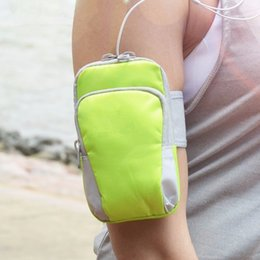 Wholesale Lg Smartphone Covers - Universal Sports Armband Case Zippered Fitness Running Arm Band Bag Pouch Jogging Workout Cover for Mobile Phone Smartphone