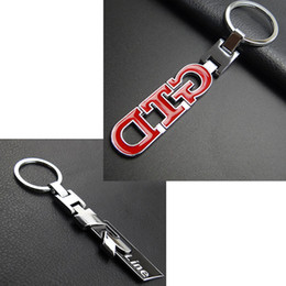 Wholesale Vw Chain - Styling Rline Key Chain Keyring Sporty GTD Key Ring Keychain for VW Golf Jetta Polo Passat CC Tiguan Touran