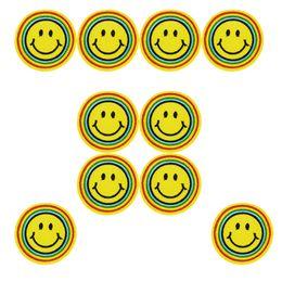 patchs arc-en-ciel Promotion 10 PCS arc-en-ciel expression patches pour vêtements fer patch pour vêtements appliques de couture accessoires autocollants badge sur le fer à repasser sur les correctifs bricolage