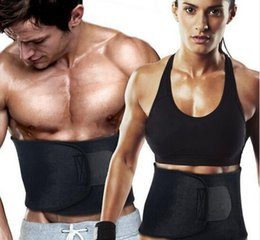 Wholesale fat trimmings - Hot High Quality Adjustable Wasit Trimmer Sweat Belt Fat Burner Body Shaper Slim Body Burn Exercise Girdle for Men Women