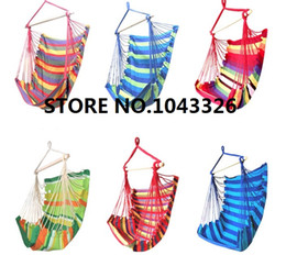Wholesale Hanging Swings Chairs - Wholesale- outdoor indoor travel camping adult child hanging chair baby thick canvas hammock camping chair dormitory bedroom swing seat
