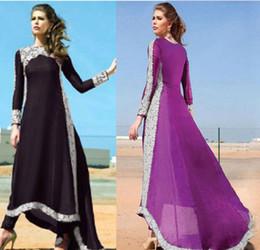 Wholesale Ethnic Clothing - Ethnic Style Turkish women clothing muslim abaya dress islamic clothing for women jilbab robe musulmane dresses vestidos longos giyim Purple