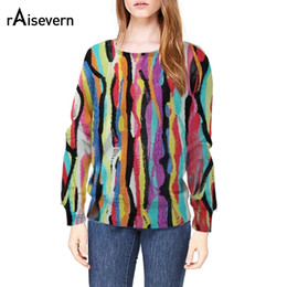 Wholesale Wholesale Sweat Outfits - Wholesale- Raisevern New Colored Striped Design 3D Sweatshirt All-over Print Hoodies Men Women Fashion Sweats Tops Outfits Dropship