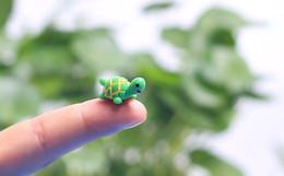 Wholesale Cartoon Moss - artificial cute green tortoise animals fairy garden miniatures mini gnomes moss terrariums resin crafts figurines for garden decoration