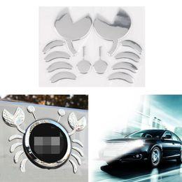 Etiqueta engomada del cuerpo de toyota online-Divertidos Pegatinas 3D PVC Plástico Flexible CrabDecoration Pegatina Volkswagen para Benz para Toyota para Chevrolet Carrocería