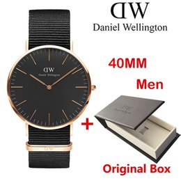 Wholesale Rose Style Box - .2017 top luxury brand women men watches fashion leather style 40 36mm rose gold mens Quartz watches montre femme relojes with box