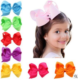 Wholesale Large Bows For Kids Hair - Kids 12cm Big Bowknot Hairpins for Girl Barrette Large Size Bow Hair Clip Solid Color Bow Hair Clip Baby Girls Hair Accessories 965