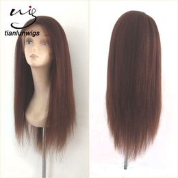 Wholesale Brazil Indians - china manufacturer wholesale natural looking yaki straight glueless full lace brazil human hair wig small head wig hair lace front