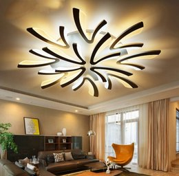 Wholesale Body Mount - Remote control Modern led ceiling lights for bedroom smart ceiling lamps acrylic aluminum body LED Lamp ceiling living LLFA
