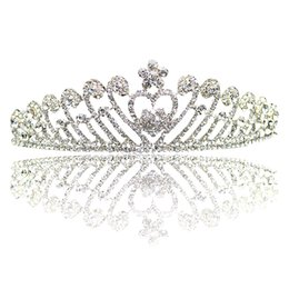 Wholesale hair crowns for brides - Vintage Bride Tiaras And Crowns With Crystal Rhinestone Princess Hairdress Headpieces Hair Accessories For Wedding Vintage Headband CPA794