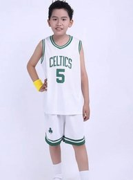 Wholesale Dragons Free Shipping - Children's Celtics 5 plus Netter basketball suit boys on the 9th v dragon collar children's clothing basketball 50242 free shipping 1 suit