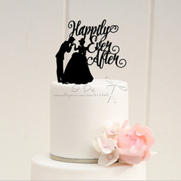 Wholesale Wedding After - Wholesale-Free Shipping Acrylic Happily Ever After Wedding Cake Topper wedding Cake Stand wedding Decoration cake Decorating Supplies