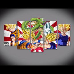 Lienzo enorme pinturas al óleo abstractas online-GRAN MODERNO PINTURA ABSTRACTA MURAL DECORACIÓN DE ACEITE EN CANVAS-Dragon Ball IMPRESIÓN BARATAS PINTURAS DE PARED LETAS DE CANVAS PARA LA DECORACIÓN DEL HOGAR