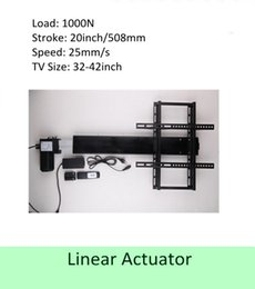 Wholesale Tv Lift Actuator Linear - free shipping 20inch or 508mm stroke 32inch-42inch TV usage wireless tv lift linear actuator can used for cabinet and bed
