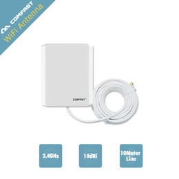 Wholesale Comfast Outdoor - Wholesale- 2PCS ! Comfast long range antena wi fi 10dB 2.4GMHz Wireless WiFi WLAN Outdoor Panel Antenna with 10 meter cable CF-ANT2410E