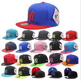 Wholesale Snapback Caps New York - Colorful Baseball Snapback Cap NY Hats Women Men Yankees Hip Hop Sport New York Adjustable Bone Unisex Casquette Casual Headwear WM273