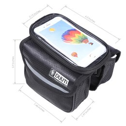 Wholesale Insulated Tube - DUUTI Water Resistant Bicycle Phone Screen Front Tube Bag With 4.8 - 5.7 inches Mobile Phone Pouch