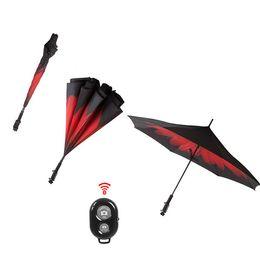 Wholesale Protection Stick - Creative Reverse Wireless Bluetooth Umbrella with Selfie Stick Inverted Rain Protection Umbrella Graphic Windproof Car Umbrella