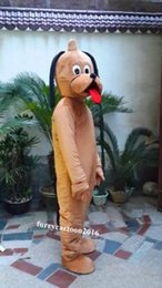Wholesale Pluto Dog Costume - New Big pluto dog cartoon mascot costume party mascot Dress Free Shipping